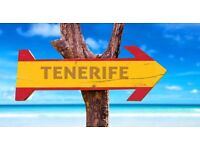 Holiday for two to tenerife 15th-19th november 2016