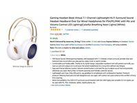 Gaming iBeek Lightweight Hi-Fi Surround Sound Headset with Mic and Volume Control LED Lighting