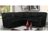 Black corner couch like new