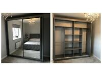 BRAND NEW OFFER ON CHICAGO 2 AND 3 DOORS SLIDING WARDROBE WITH FULL MIRRORS, BOOK NOW!!