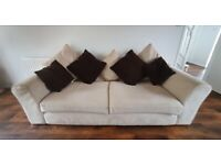 Furniture Village 3 seater sofa and armchair