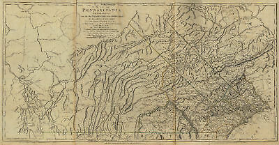 1770 PA MAP Adamstown Albion Almedia Apollo Atglen Avis Brooklyn History ITS BIG