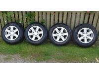 """FORD RANGER 4x4 Pickup Genuine 17"""" Silver Alloy Wheels with 255/65/R17 Tyres"""