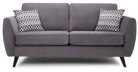 2 x charcoal grey sofas
