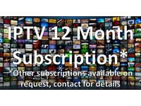 12 MONTH'S IPTV FOR ALL DEVICES - WITH HELP