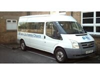 FORD TRANSIT 100 15 SEAT RWD MINI BUS 350 WHITE 57 PLATE