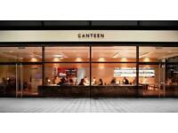Full-time and Part-time waiters required at Canteen Spitalfields