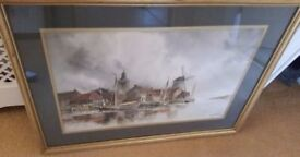 antique painting, dutch signed by listed artist