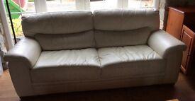 3-4 Seater Leather Sofa - £70.00