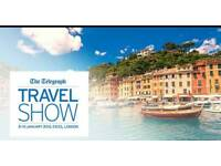 X 4 tickets, The telegraph travel show, excel centre, London