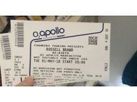 2X Russel Brand Manchester £80 STALLS