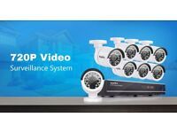 CCTV 8CH HDMI DVR HD 720P Night Vision Home CCTV Security Camera System 640GB HDD - new