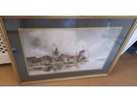 antique painting, listed artist