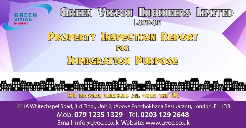 Property Inspection Report for immigration purpose, Entry