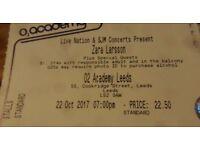 Zara Larsson 2 x Stalls Standing Tickets O2 Academy Leeds