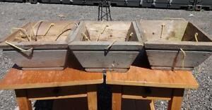3 RUSTIC WOOD PLANTERS - Ready to hang and enjoy -  Oakville 905 510-8720