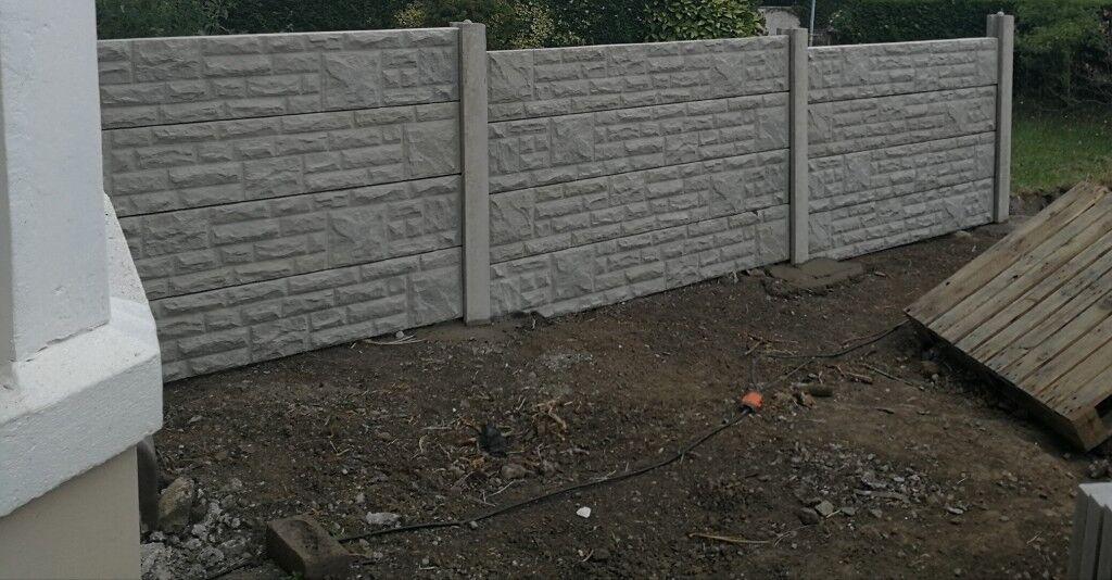 Rock face gravel boards/concrete fence panels x28 & x2 Intermediate posts |  in Baglan, Neath Port Talbot | Gumtree
