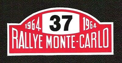 Rallye Monte Carlo 1964 Sticker, Vintage Sports Car Racing Decal, Mini Cooper