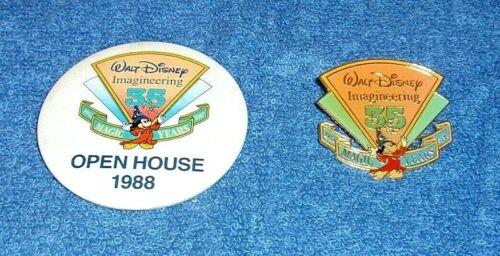 DISNEY IMAGINEERING 35 MAGIC YEARS IMAGINEERS FAMILY OPEN HOUSE 1988 BUTTON PIN