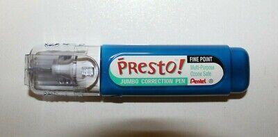 Pentel Presto Jumbo Fine Point Correction Pen White Out Metal Ball Tip New One