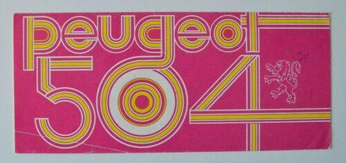 PEUGEOT 504 1970s dealer brochure - English - Canada
