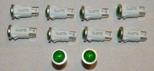 QTY (10) IDI  1032QD5 Lamp, Indicator, Neon, Green, 125V