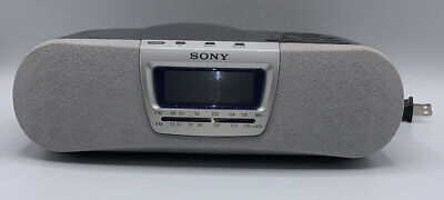 SONY DREAM MACHINE ICF-CD830 CD AM/FM Alarm Clock Radio Music Disc Player TESTED