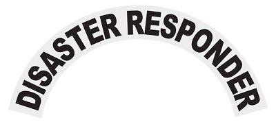 Disaster Responder Black Helmet Crescent Reflective Decal Sticker