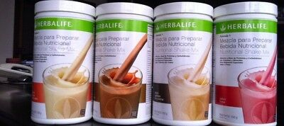 New 4X Herbalife Formula 1 Healthy Meal Nutritional Shake Mix 26 4Oz All Flavors