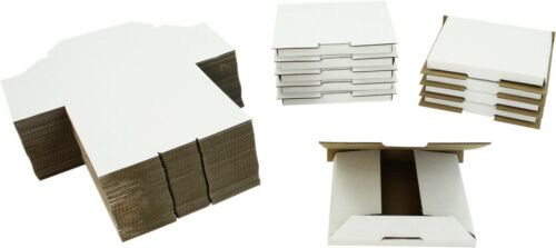 (50) White Sturdy Single CD Shipping Boxes Mailers Retail Video Games Multimedia