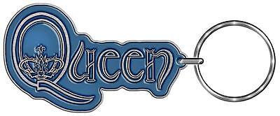 OFFICIAL LICENSED - QUEEN - LOGO KEYCHAIN KEYRING ROCK FREDDIE MERCURY