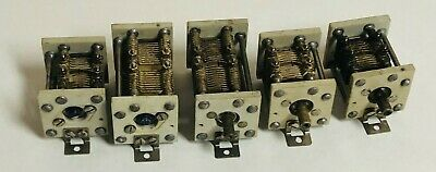 Unused Lot Two 100pf Three 52pf Air Dielectric Variable Capacitors C85