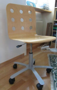 Jules IKEA Swivel Office Chair - Asking $30 - Birch Colour