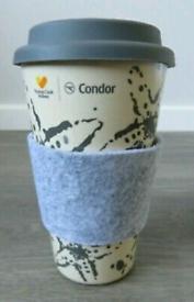 THOMAS COOK CONDOR EXCLUSIVE BAMBOO FIBRE COFFEE TRAVEL MUG