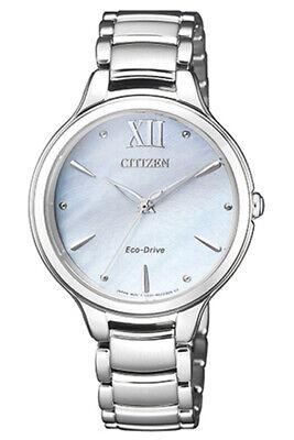 Citizen Women's Eco-Drive Sapphire Crystal MOP Dial Silver 32mm Watch -