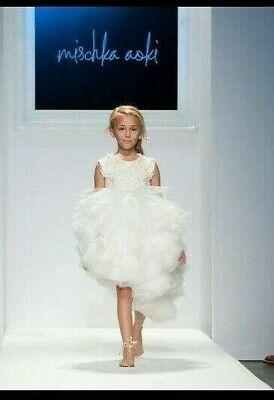 Mischka Aoki Girls White Queen dress 5T
