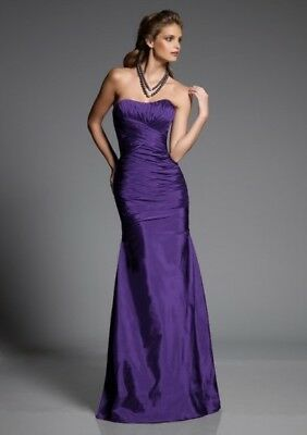Angelina Faccenda Bridesmaid Dress 20301 Silky Taffeta Color Wisteria Purple - Wisteria Color Dress