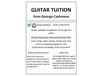 Guitar lessons from an experienced an active guitar player/teacher for a competitive price