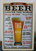 Antique Tin Beer Sign