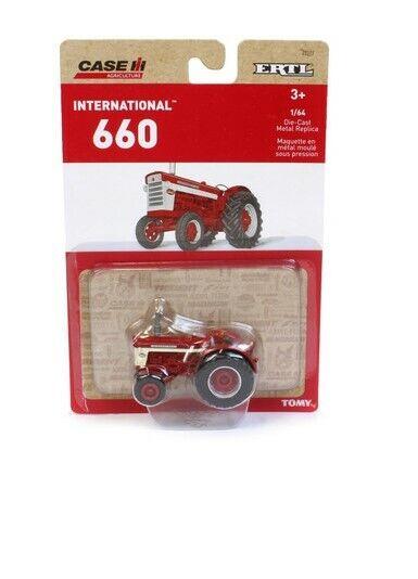 1/64 International Harvester 660 Tractor - Die-Cast Metal Replica Toy