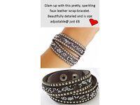 Black Sparkly Wrap Bracelet