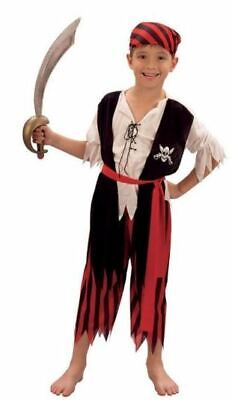 Pirate Dress Up For Boys (BOYS GIRLS PIRATE JIM CARIBBEAN SEA FANCY DRESS UP COSTUME)