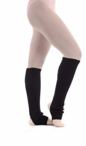 """Stirrup Ankle  Legwarmers Black 16"""" girls ladies just to the knee ladies SILK!"""