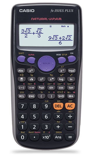 NEW Casio FX-350ES PLUS Scientific Calculator 252 FUNCTIONS 9 Memories VPAM FX-