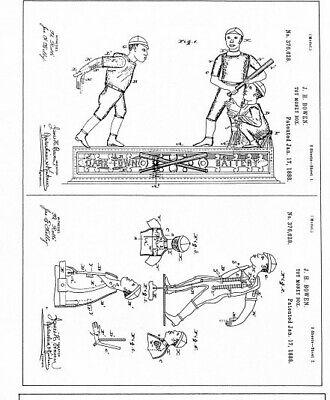 CAST IRON MECHANICAL BANK...THREE BALL PLAYERS..J.& E. Stevens Co. c1890's