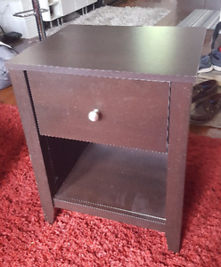 Bed or side table with single drawer