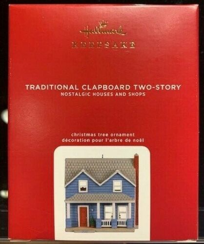 HALLMARK 2020 TRADITIONAL CLAPBOARD TWO-STORY NOSTALGIC HOUSES & SHOPS ORNAMENT