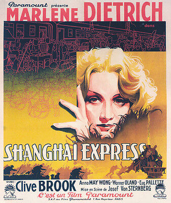 Shanghai Express Marlene Dietrich movie poster print on Rummage