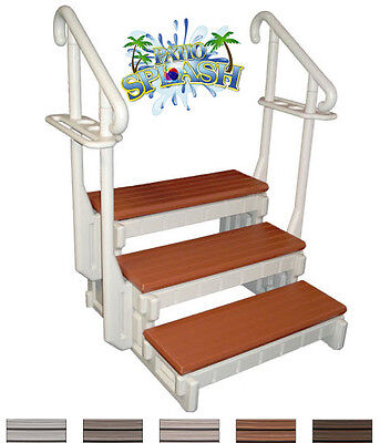 3 Step Spa Step Hot Tub Step Swim Spa Steps W/handrails Towel Racks Easy Entry