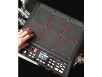 Roland spdsx sample pad with stand and Roland drum trigger